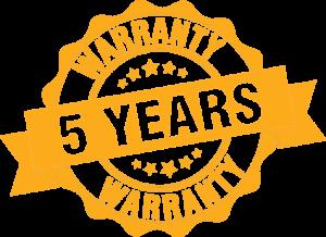5-year warranty